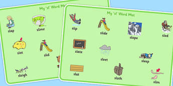 SL Word Mats - sen, sound, special educational needs, sl, word mats