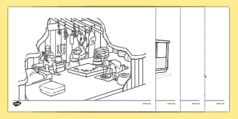 Homes Through the Ages Colouring Sheets - house, home, building, colouring, activity, fine motor skills, brick, stone, saxon, roman, iron age, mud hut