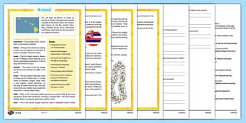 Hawaii Differentiated Reading Comprehension Activity