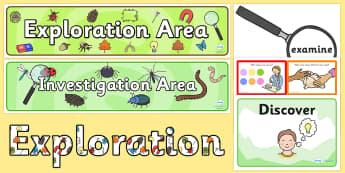 EYFS Investigation Area Classroom Set Up Pack - classroom, set up