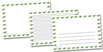 Twinkl Dinosaur Landscape Page Borders- Landscape Page Borders - Page border, border, writing template, writing aid, writing frame, a4 border, template, templates, landscape
