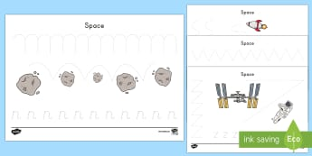 Space Pencil Control Activity Sheets - Early Childhood, Space, Astronaut pencil control activity, space pencil control.