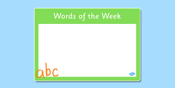 Words of the Week Poster - words, week, poster, display, words of the week