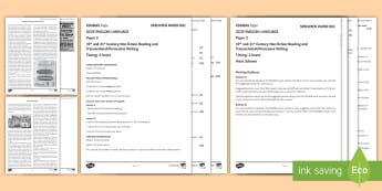 003 English Lang GCSE EDUQAS Style Exam P2 Exam Questions Pack
