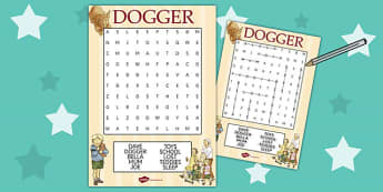 Word Search to Support Teaching on Dogger - worksheets, worksheet, words, activities