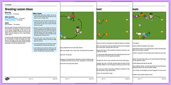 KS1 Football Skills 3 Shooting Lesson Pack - football, PE, sport, exercise, KS1, year 1, year 2, skills, physical education, ball skills, team sports