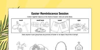 Elderly Care Easter Reminiscence Session - Elderly, Reminiscence, Care Homes, Easter