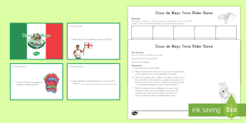 Cinco de Mayo Facts Game - Cinco de Mayo worksheet, mexico, mexican, independence, usa resiyrces
