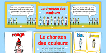 La chanson des couleurs Nursery Rhyme French - french, la chanson des couleurs, nursery rhyme
