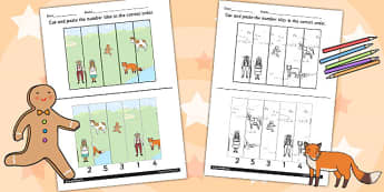 The Gingerbread Man Number Sequencing Puzzle - sequencing, number