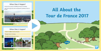 EYFS All About The Tour de France Information PowerPoint - cycling, bike, bicycle, physical, race