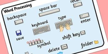 Word Processing Skills Word Mat - Word, Skills, Word Mat, mat