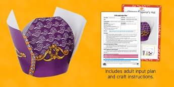 EYFS Chinese Emperors Hat Craft Adult Input Plan and Resource Pack