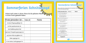 Sommerferien Schnitzeljagd - german, scavenger