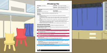 There's a Space on My Right EYFS Adult Input Plan - adult input