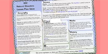 Natural Disasters Lesson Plan Ideas KS2 - natural disasters
