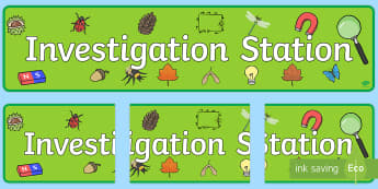 Investigation Station Display Banner  - Exploration Area Display Banner - exploration area, display banner, banner, header, banner for displ