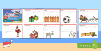 Addition and Subtraction Christmas Challenge Cards - New Zealand Maths, addition, subtraction, christmas, cards, challenge cards, Year 4-6