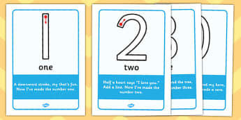 Number Formation Rhyme Display Posters - education, home, free, overwriting