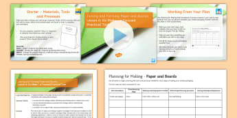 Joining and Forming Paper and Boards L6: Go Make Lesson Pack - Key Stage 4 Design & technologydesign processGCSE design & technologydesign projectiterative designp