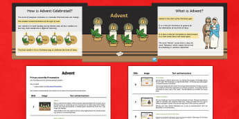 KS1 Advent Assembly Script and PowerPoint Pack - Advent, Christmas, Nativity, Baby Jesus, Jesus, assembly script