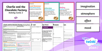 Y3 Charlie and the Chocolate Factory: Activity Plan 2 PlanIt Guided Reading Pack to Support Teaching on Charlie and the Chocolate Factory - PlanIt Y3 Charlie and the Chocolate Factory, guided reading, author's name, book title, reading, Y