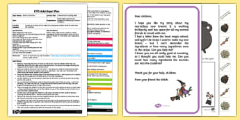EYFS A New Broom Counting Spell Adult Input Plan and Resource Pack