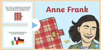 Anne Frank Significant Individual PowerPoint - Anne Frank Significant Individual Fact Sheet - anne, frank, facts, second world war, world war two,