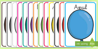 Póster: Los colores en globos  - globos, color, colores, colorea, arcoiris, exposición, decoración, globo, colorear, pintar, ,Spani