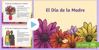 Presentación: El Día de la Madre - día de la madre, día de las madres, mundo, por el mundo, presentación, powerpoint, power point, ,