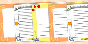 Maths Page Borders Landscape - numeracy, writing template, math