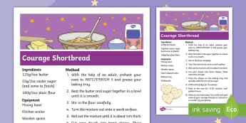 The Making of Milton Courage Shortbread Recipe - twinkl originals, fiction, KS1, EYFS, Home learning, Parents, Design and Technology