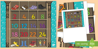 Counting in 2s Bee-Bot Mat - The Elves and the Shoemaker, traditional tales, counting, 2s, ict, bee-bot, it, technology, maths, m