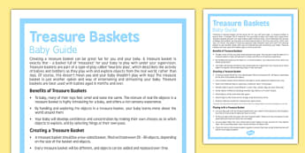 Guide to Treasure Baskets for Babies - Baby, play, entertain, heuristic, treasure, basket