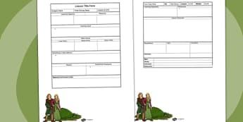 Anglo Saxon Themed Editable Individual Lesson Plan Template