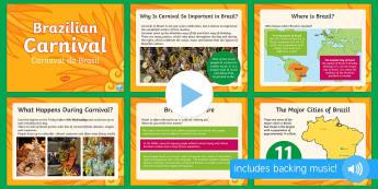 Brazilian Carnival (Carnaval do Brasil) PowerPoint - KS2, Brazil, carnival, festivals, celebrations, culture, geography, carnaval, brazilian, culture, so