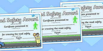 Road Safety Award Certificates Arabic Translation - arabic, certificates