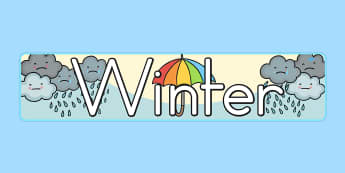 Winter Display Banner - display, banner, winter, winter display