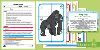 Build a Zoo Animal Game Addition Version Busy Bag Plan and Resource Pack - Animal Park, Safari Park, Petting, Animals, Maths, Numeracy