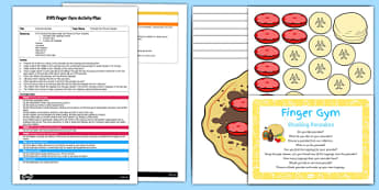 EYFS Stacking Pancakes Finger Gym Plan and Resource Pack - Pancake Day, eyfs