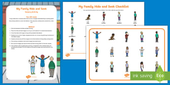 My Family Hide and Seek 'Hide and Seek' Sensory Activity  - EYLF, Australia, Sensory, Early Years, Early Childhood, Can You Find, Visual Discrimination, My fami