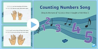 Counting Numbers Song PowerPoint - maths, singing, song time, numbers, counting, numeracy