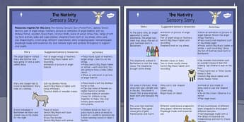 The Nativity Sensory Story - the nativity, sensory story, story, sensory, christmas, nativity