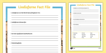 Lindisfarne Differentiated Fact File Activity Sheet Pack, worksheet