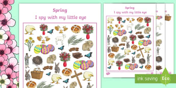 Spring Themed I Spy With My Little Eye Activity - activities