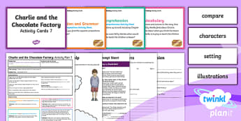 Y3 Charlie and the Chocolate Factory: Activity Plan 7 PlanIt Guided Reading Pack to Support Teaching on Charlie and the Chocolate Factory - PlanIt Y3 Charlie and the Chocolate Factory, guided reading, Roald Dahl, Charlie and the Chocolate F