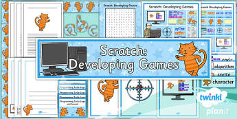 Computing: Scratch Developing Games Year 5 Unit Additional Resource Pack