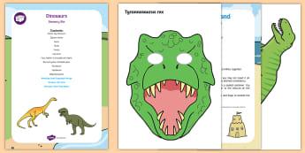 Dinosaurs Sensory Bin and Resource Pack - sensory play, tactile, t-rex, dinosaurs, sensory tray, dinosaur