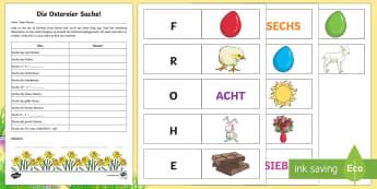 Easter Egg Hunt Activity - Easter, Easter Egg Hunt, German
