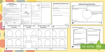 Whole School Roald Dahl Themed Day Resource Pack - roald dahl day, twits, charlie and the chocolate factory, Giant Peach, Esio, Fox, Matilda, BFG, Medi